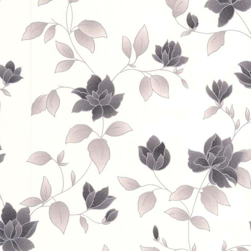 Amy Black/Grey/White Wallpaper