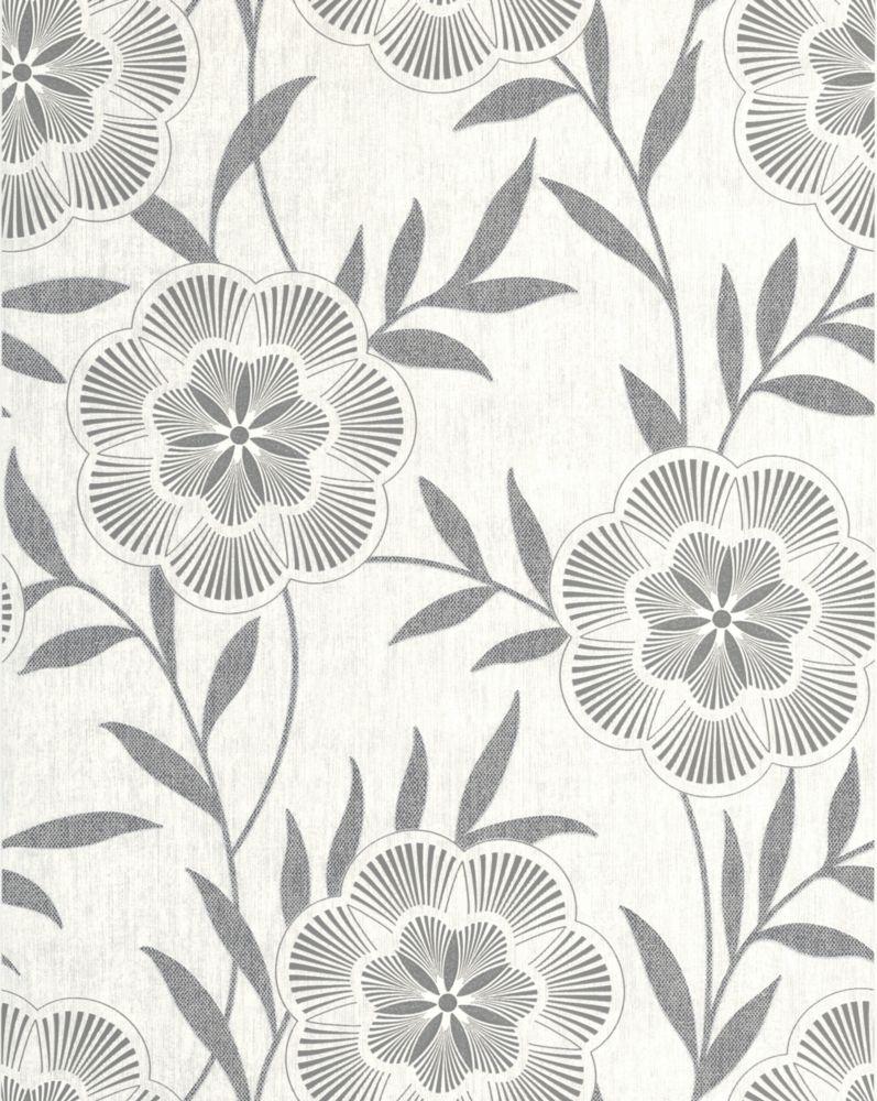 Flora Grey Wallpaper 32-445 in Canada