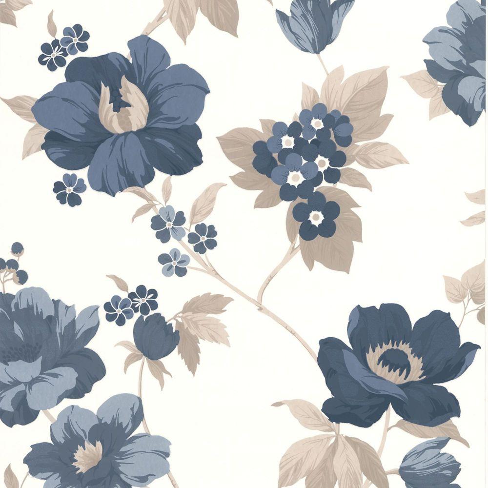 Eden Blue/Beige/Cream Wallpaper