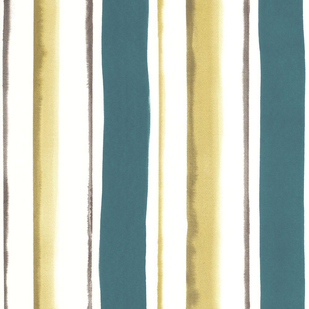 Waterfall Teal/Green/Cream Wallpaper