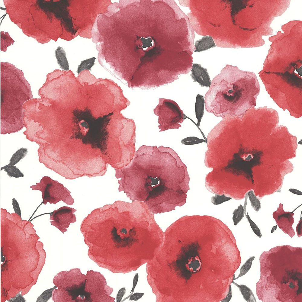 Poppies Red Wallpaper