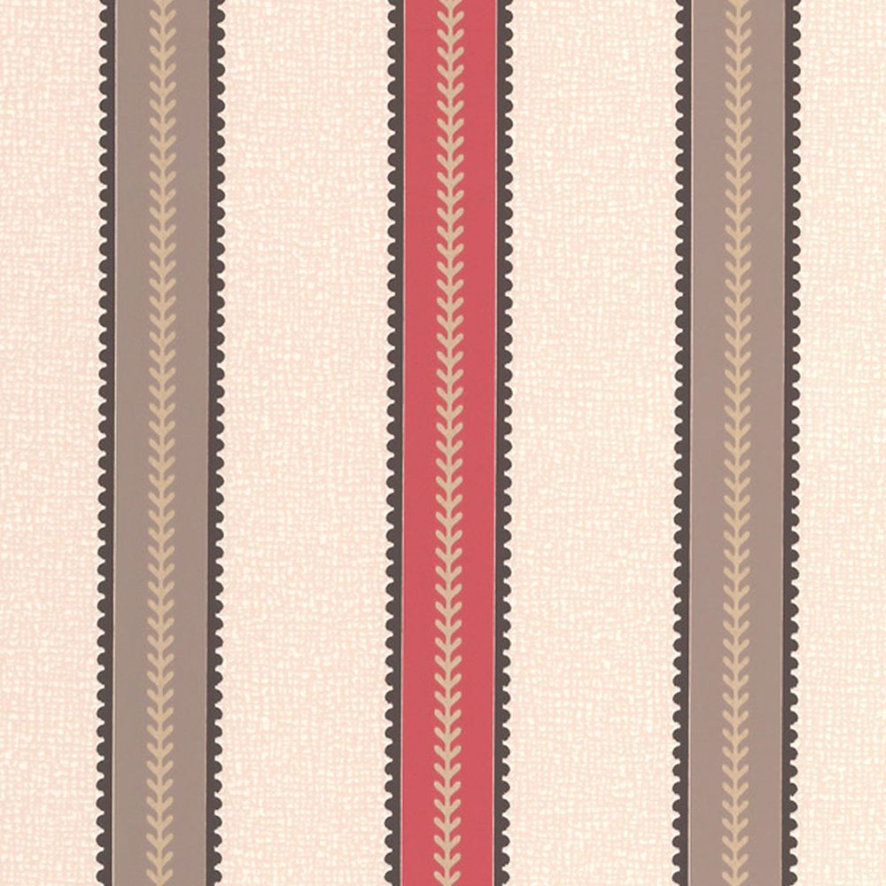 Harvest Red/Brown/Cream Wallpaper