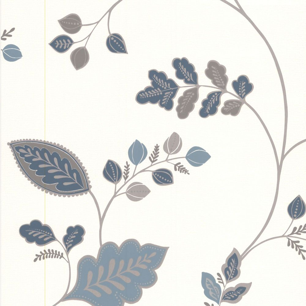 Folklore Blue Wallpaper 20-586 in Canada