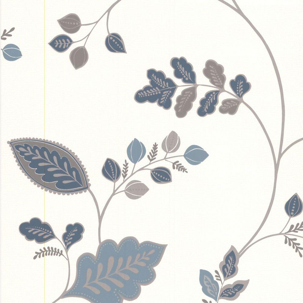Folklore Papier Peint Bleu