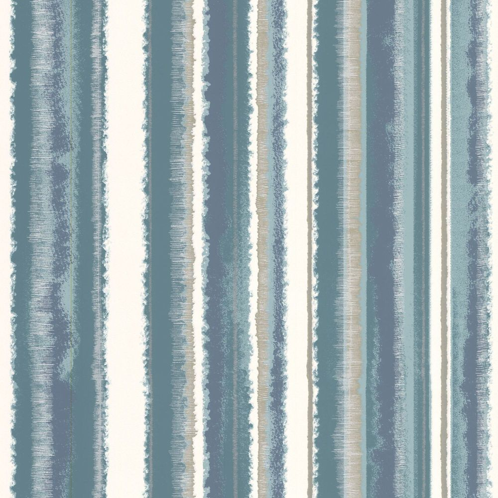 Romany Stripe Teal Wallpaper 20-602 Canada Discount