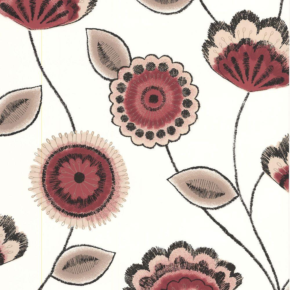 Romany Red/Beige/Black/Cream Wallpaper