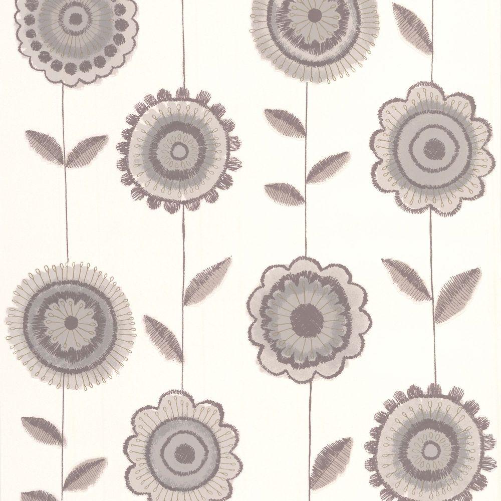 Radiance Beige/Brown/White Wallpaper