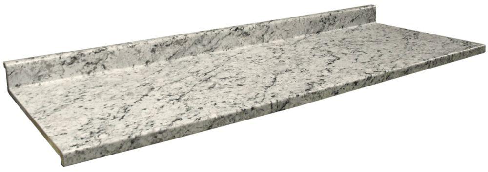 Comptoir vanité, profil 2700 , couleur Granite Glace Blanche 9476-43,  22.5 po  x 60 po