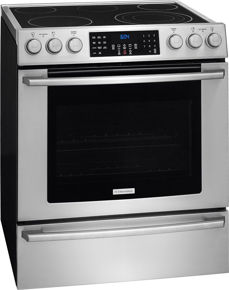 4.6 cu. ft.. Electric Front Control Free-Standing Range in Stainless Steel