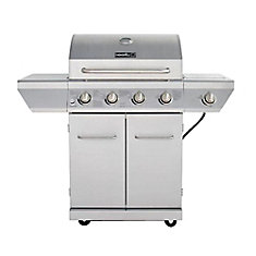 4 Burner Propane BBQ In Stainless Steel With Side