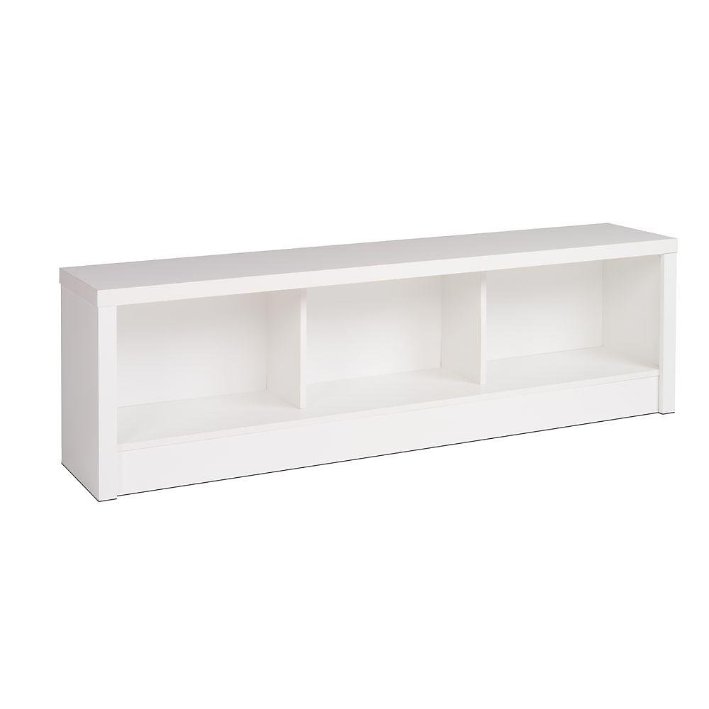 Calla 61.5-inch x 18-inch x 11.75-inch Solid Wood Frame Bench in White