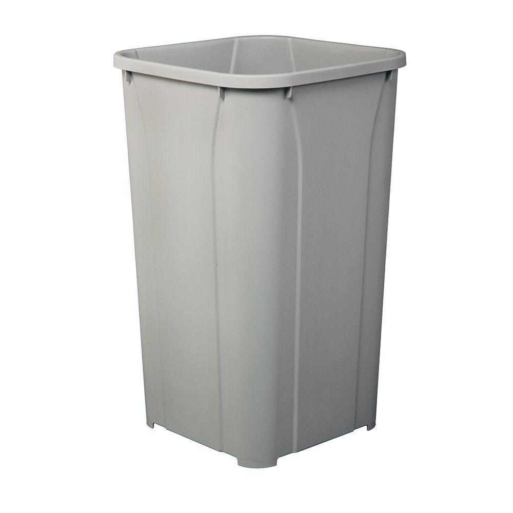 27 Quart Platinum Waste Bin QT27PB-PT in Canada