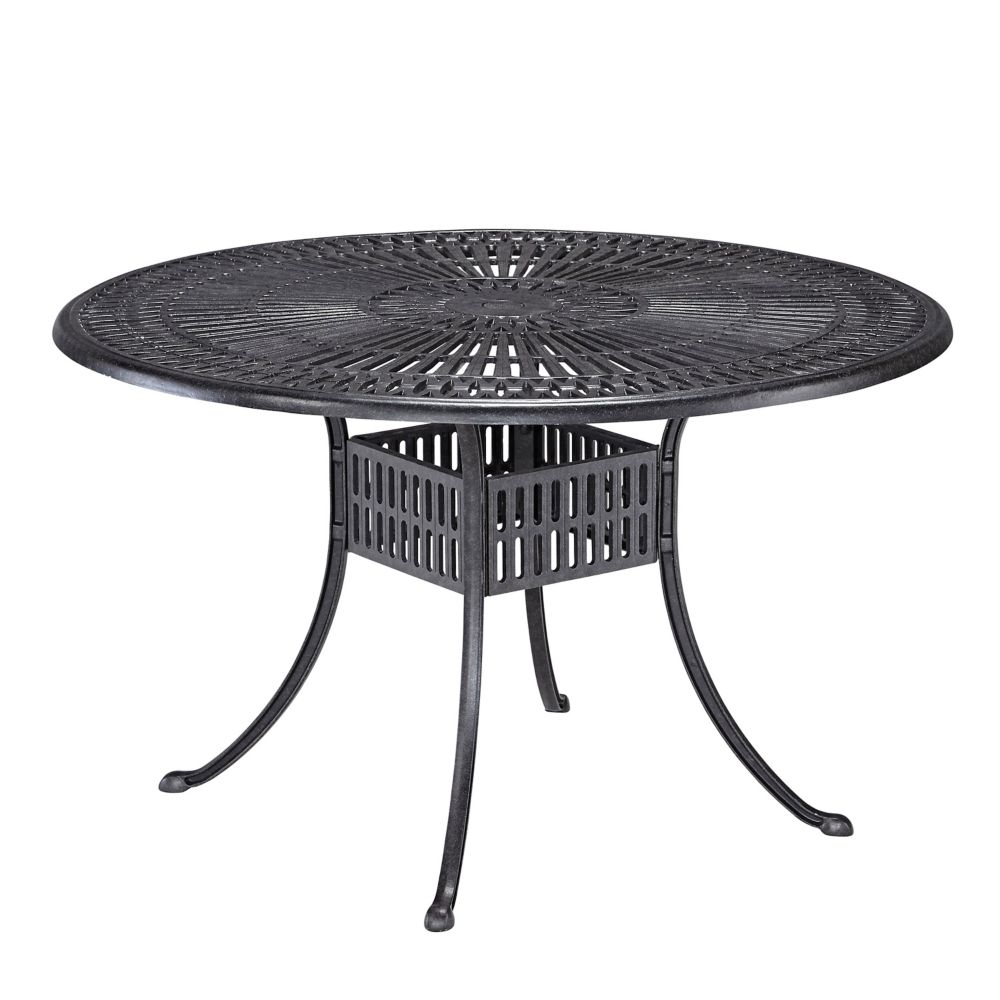 home styles 48 inch largo patio collection round outdoor dining table