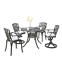 Largo 5PC Ensemble de salle à manger avec coussins