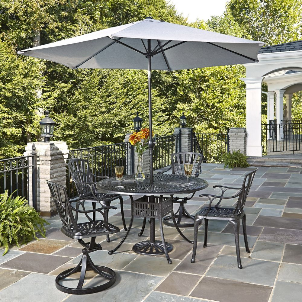 Largo 5-Piece Patio Dining Set with Umbrella