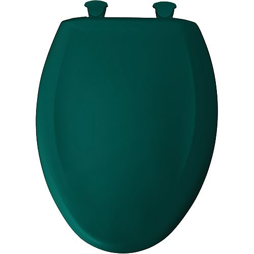 Bemis Elongated Closed Front Toilet Seat in Teal with Easy Clean and Change Hinge