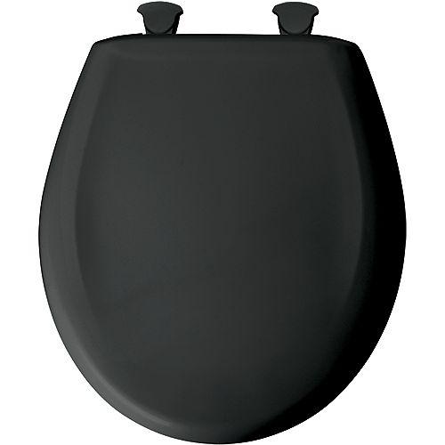 Bemis Siège de Toilette Rond en Plastique avec charnière Whisper,Close avec Easy,Clean & Change et STA-TITE - Noir