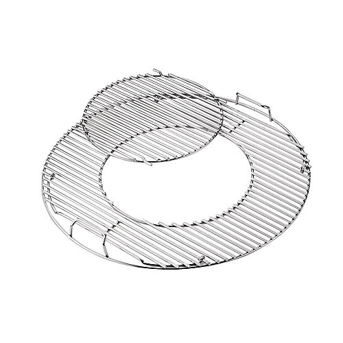 Hinged BBQ Grate for 22-inch Charcoal BBQ
