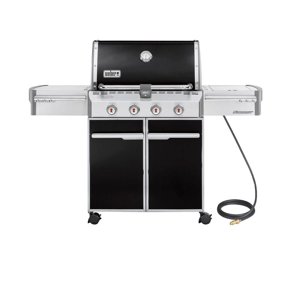 Summit<sup>®</sup> E-420� Natural Gas BBQ in Black