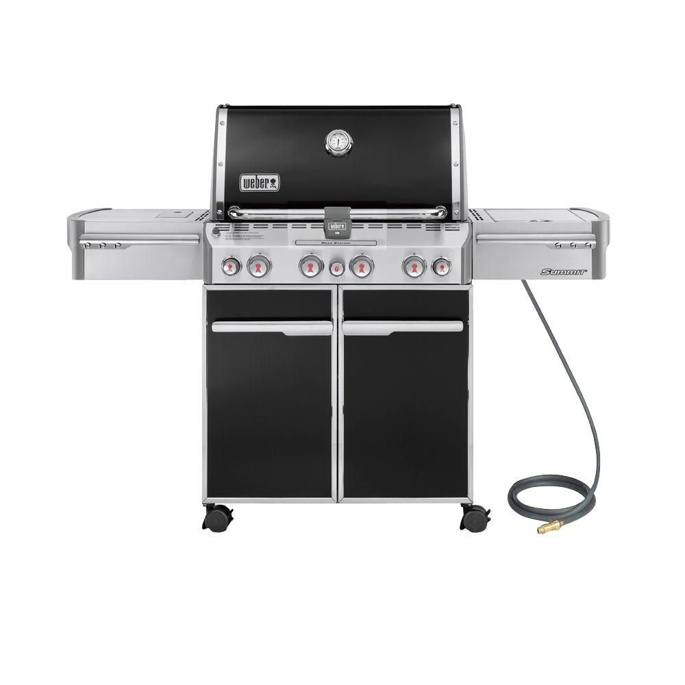 Summit<sup>®</sup> E-470� Natural Gas BBQ in Black