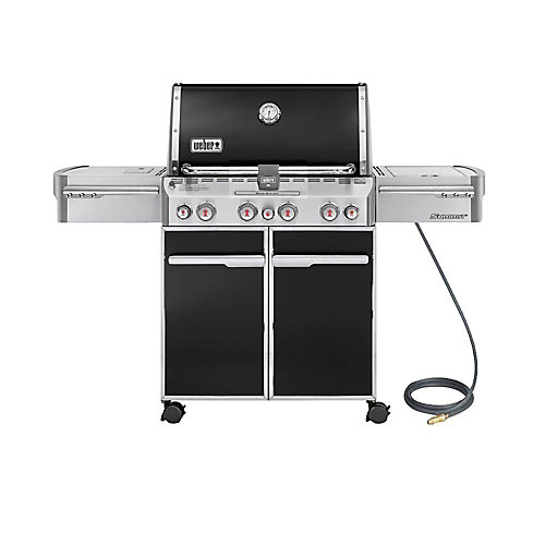 Summit E-470 4-Burner Natural Gas BBQ in Black