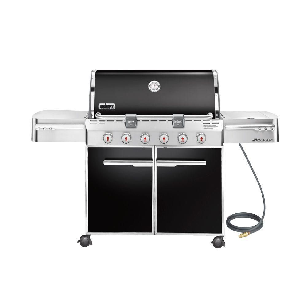 Summit<sup>®</sup> E-620� Natural Gas BBQ in Black