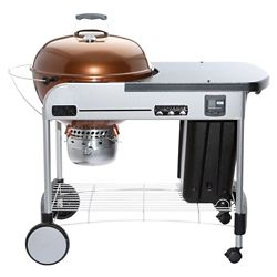 Weber Performer Premium 22-inch Charcoal BBQ in Copper with Steel Cart