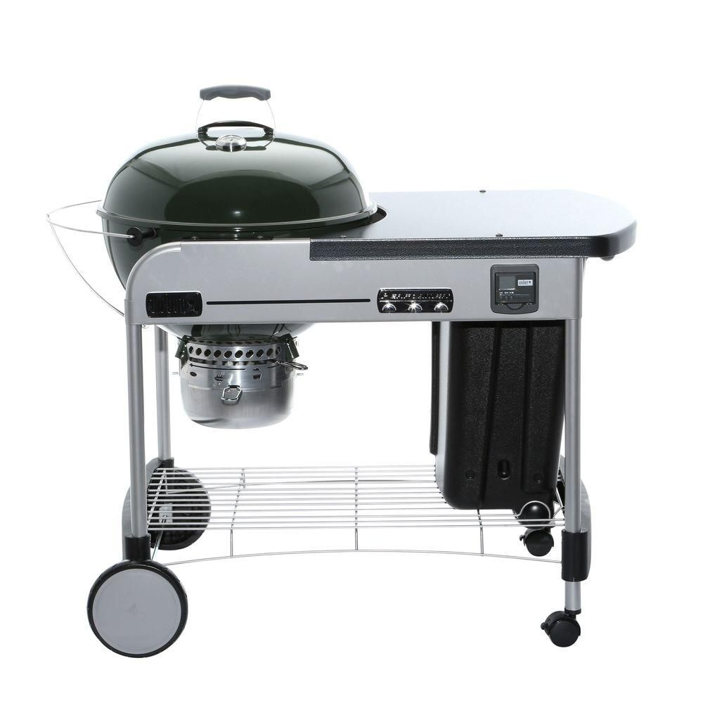 Weber Performer Premium 22-inch Charcoal BBQ in Green