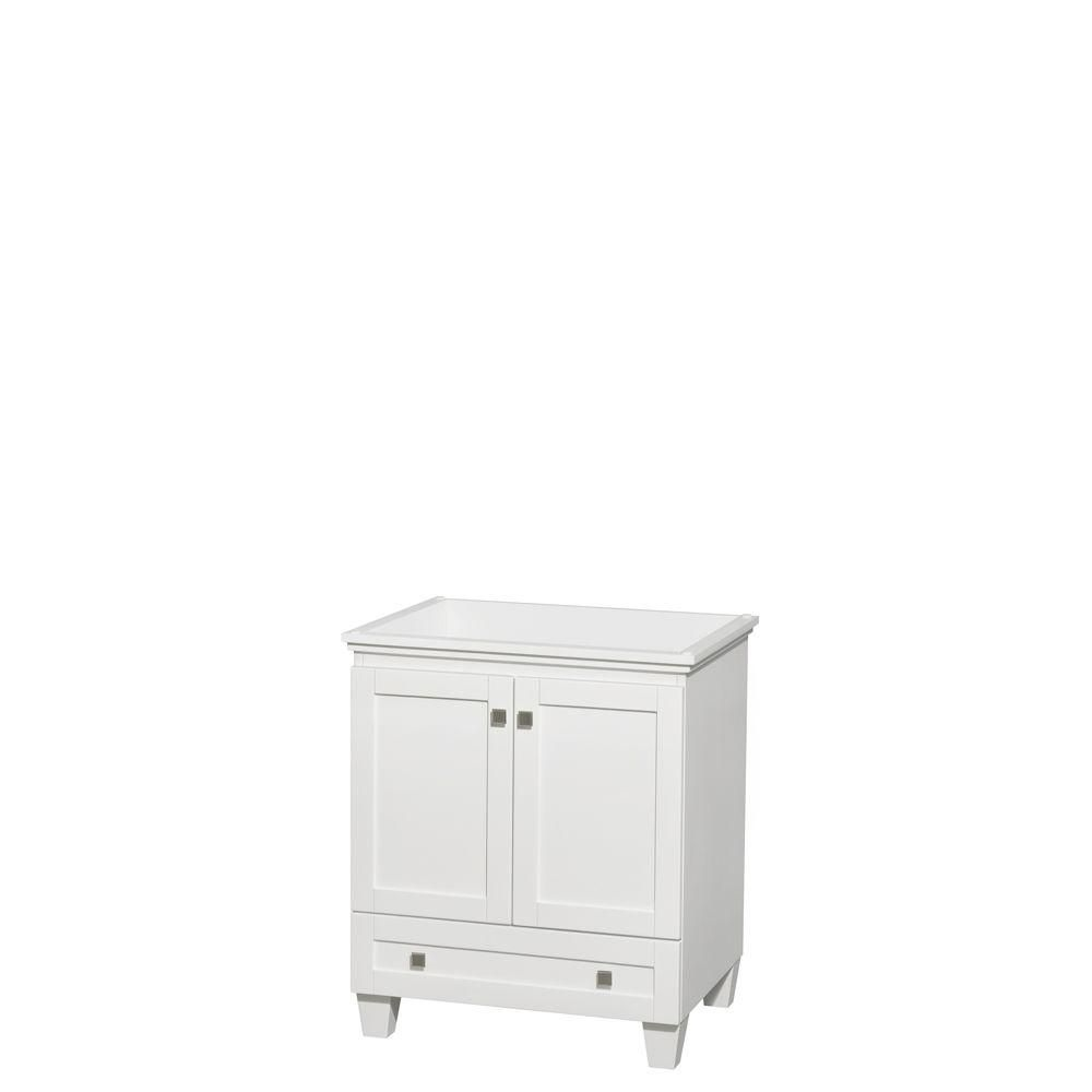 Wyndham Collection Acclaim 30-Inch  Vanity Cabinet in White