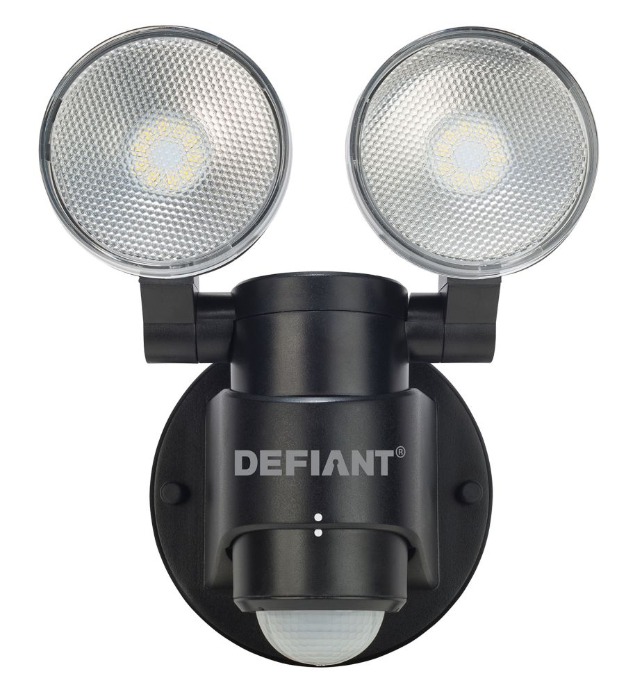 Defiant 180-Degree 2-Head Outdoor Black Motion Activated ...