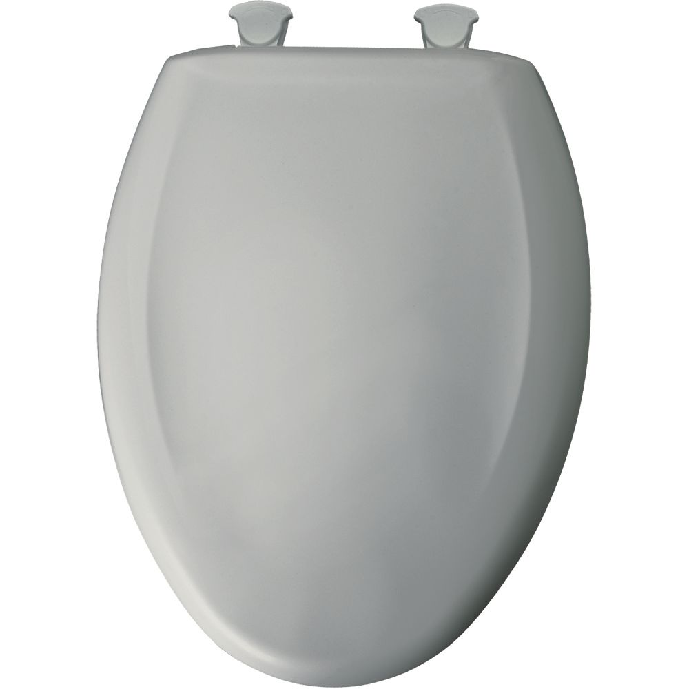 Bemis Elongated Closed Front Toilet Seat In Ice Grey With