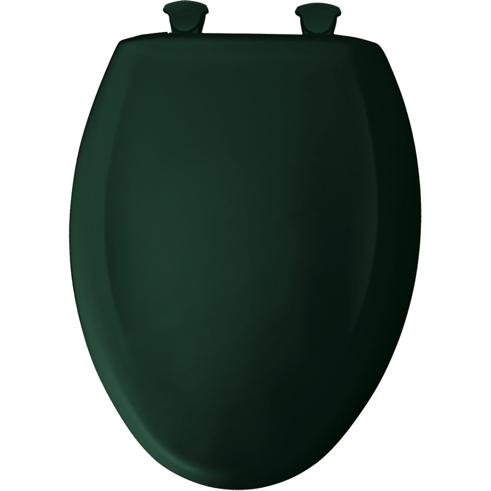 Bemis Elongated Closed Front Toilet Seat in Timberline with Easy Clean and Change Hinge