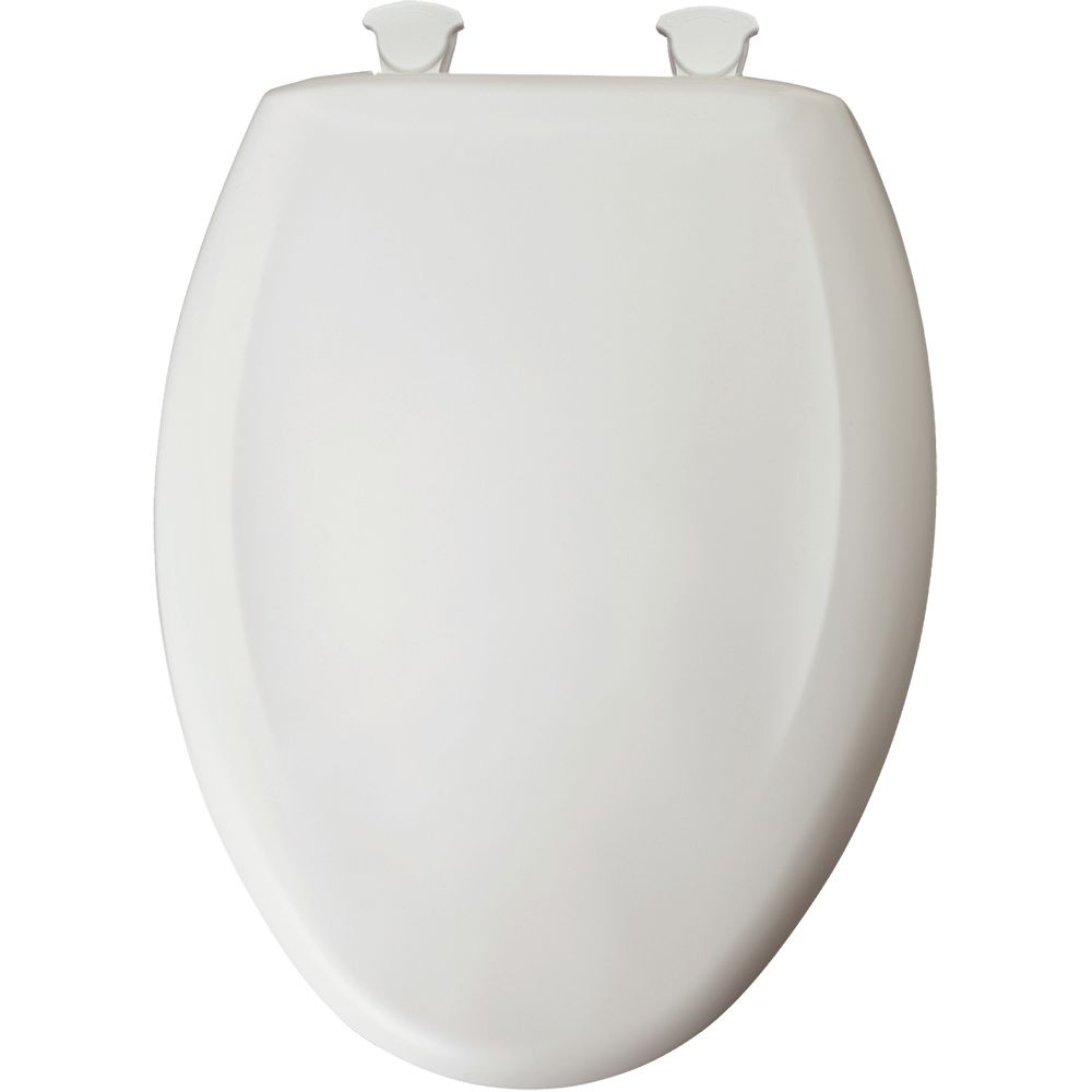 Bemis elongated plastic toilet seat with whisper close for Toilet seat