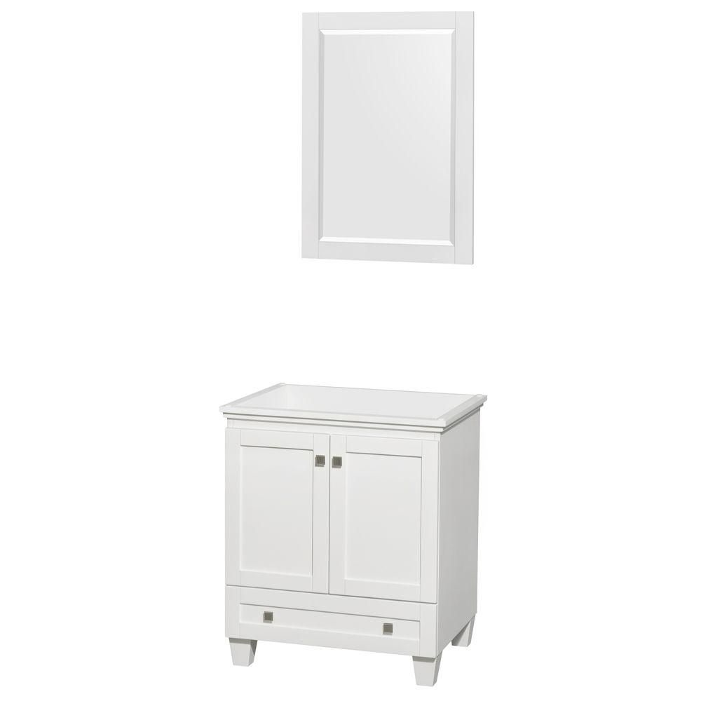 Wyndham Collection Acclaim 30-Inch  Vanity Cabinet with Mirror in White