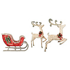 20 -inch 200L + 30 -inch 150L Deers with Sleigh