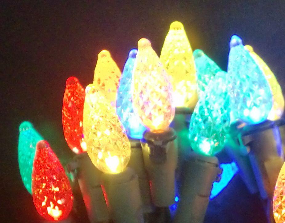 35 DEL Lampes C6 à couleurs changeantes  MULTI COLORE/BLANC CHAUD