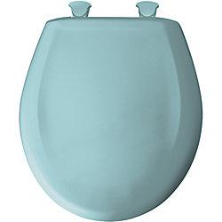 Bemis Siège de Toilette Rond en Plastique avec charnière Whisper,Close avec Easy,Clean & Change et STA-TITE - Turquoise pále