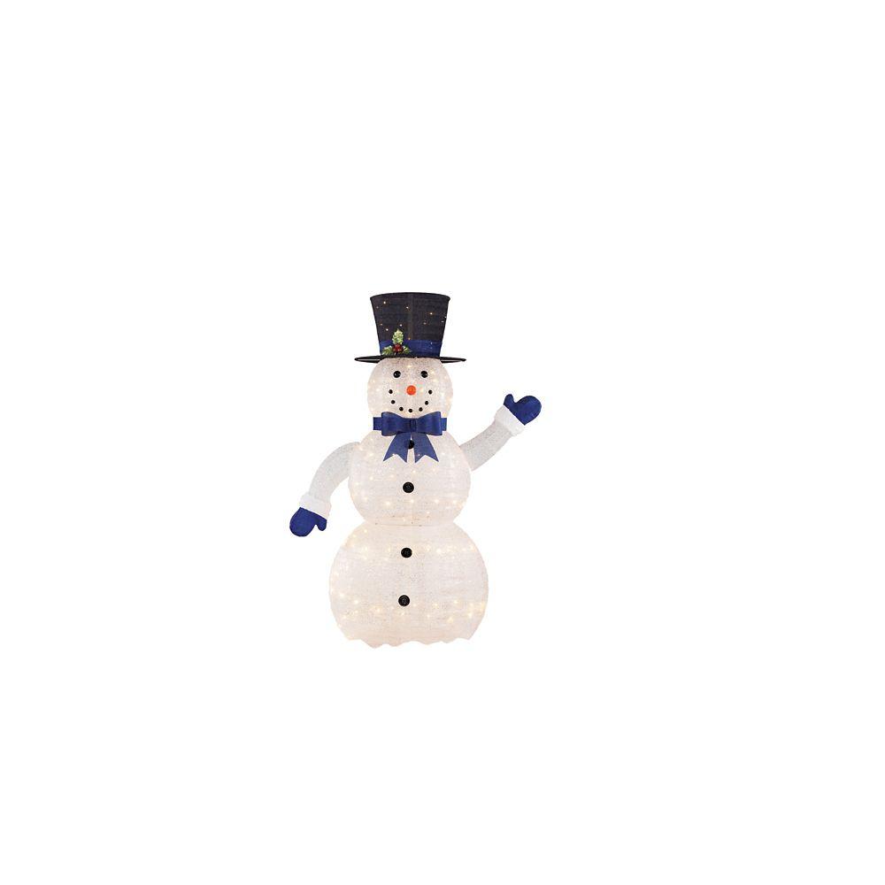 Bonhomme de neige à DEL dégonflable de 1,52 m 120 LED