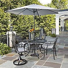 Largo 5PC Ensemble de salle à manger w/ parapluie et coussins