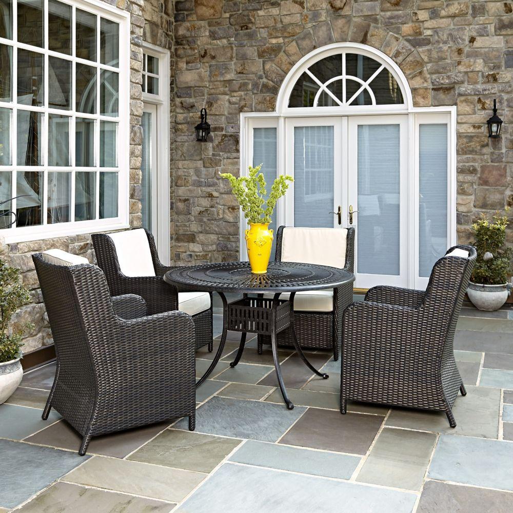 Largo 5-Piece Patio Dining Set with Riviera Chairs