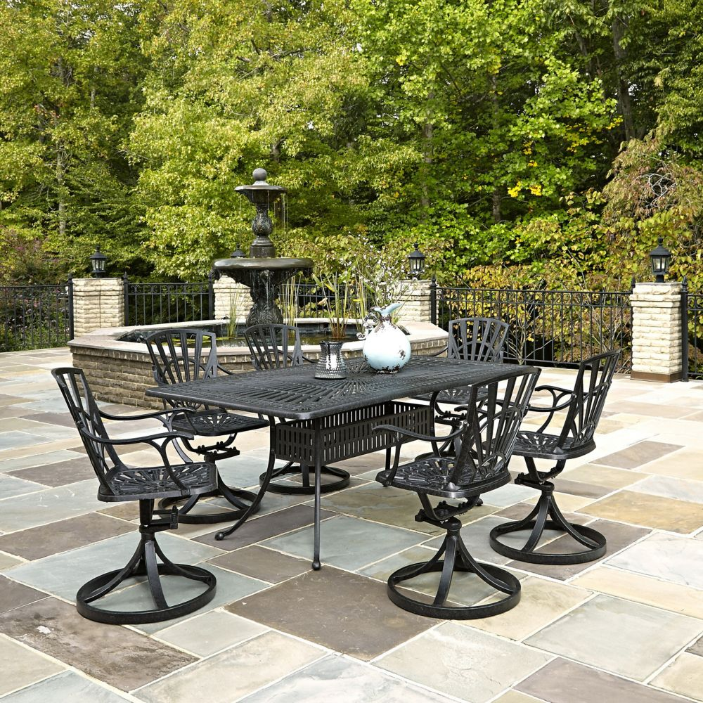 home styles largo 7 piece patio dining set the home depot canada