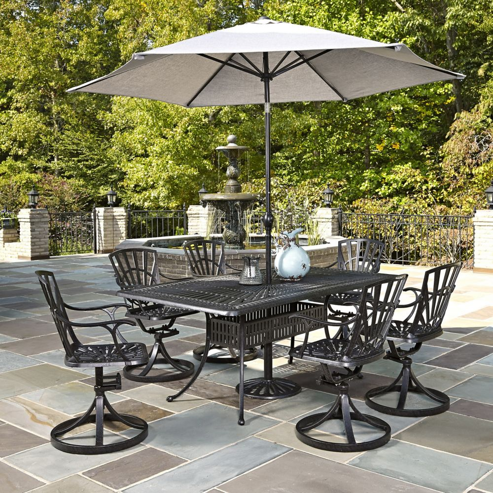 piece amazon outdoor dark ridge brown garden serene dining set aluminum dp com patio cosco
