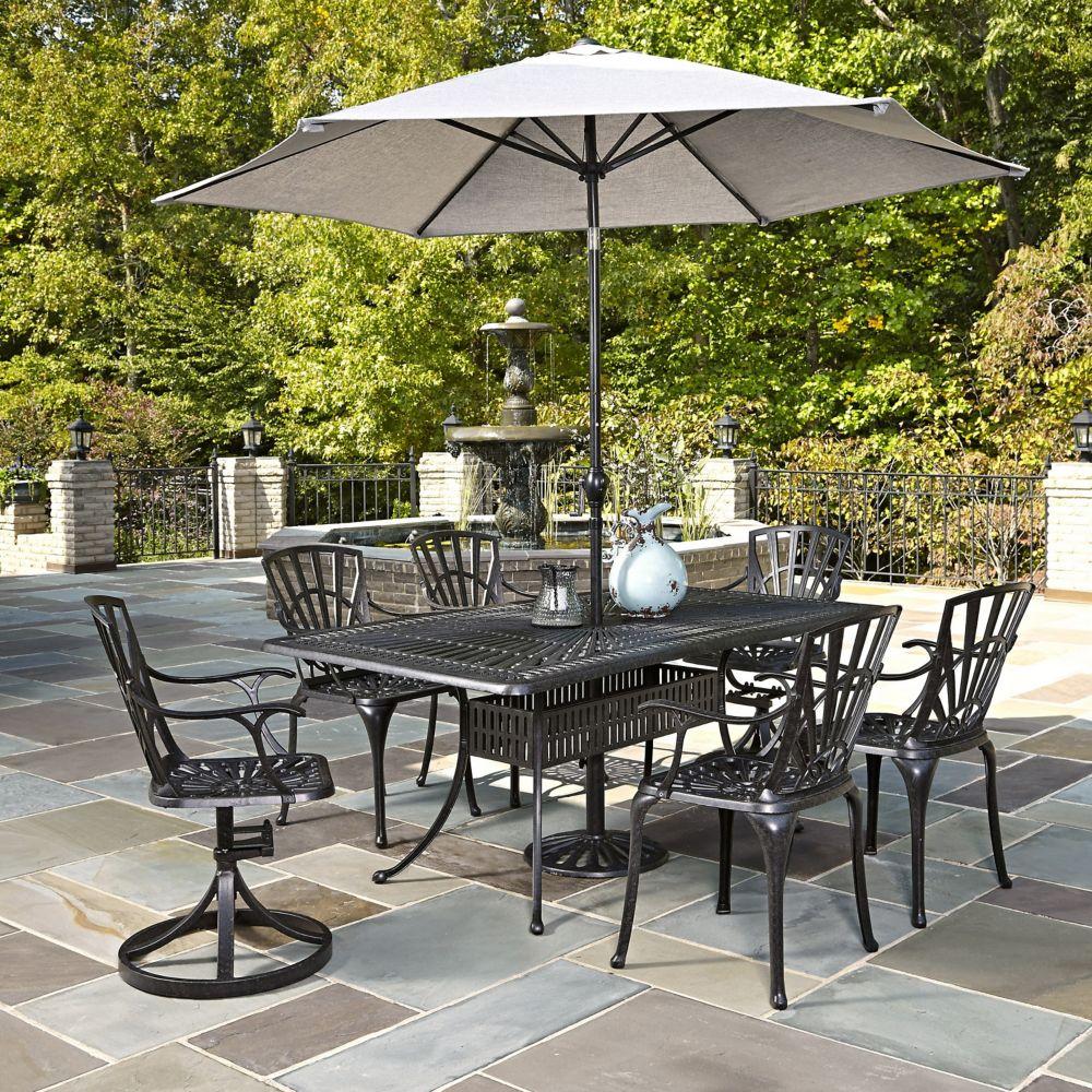 Largo 7-Piece Patio Dining Set with Umbrella