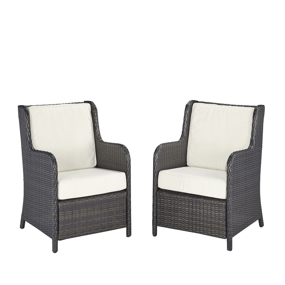 Two Riviera Outdoor Conversation Chairs