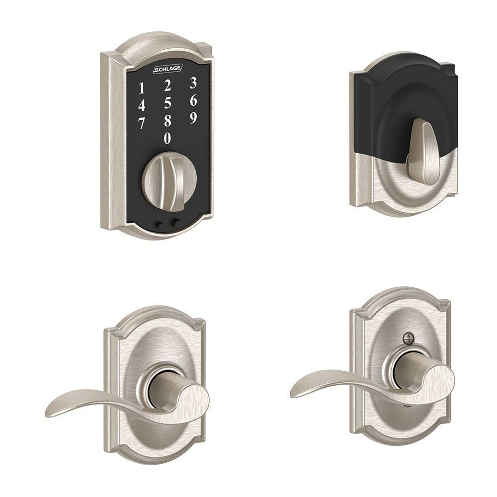 Touchscreen Combo Camelot/Accent Lever Satin Nickel