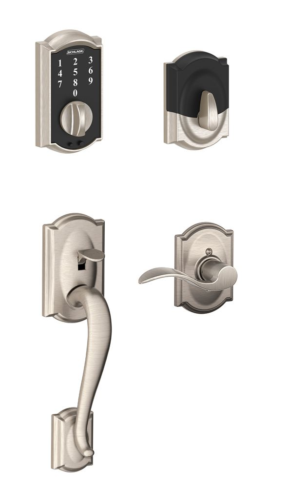 Touch Camelot Accent Satin Nickel Handleset