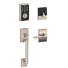 Century/Latitude Satin Nickel Keyless Entry Touchscreen Lever Handleset