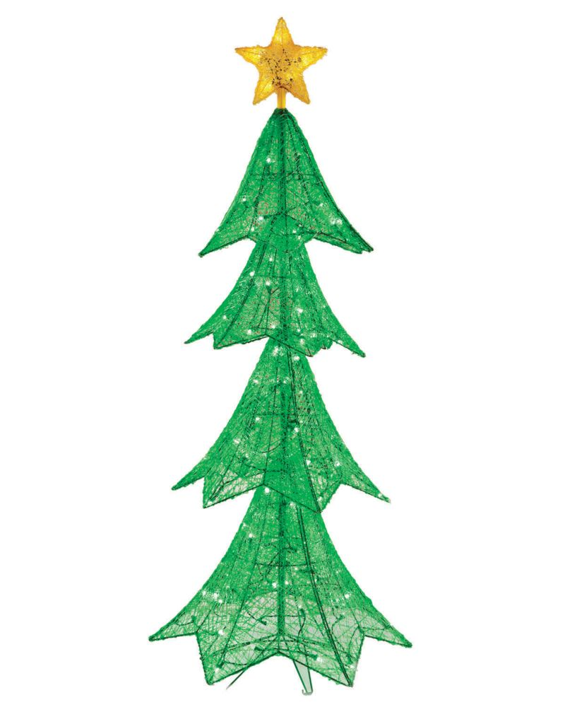 6 Feet 140 LED Twinkling Green Tree