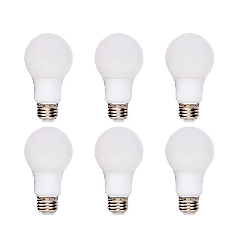 60W Equivalent Soft White (2700K) A19 Dimmable LED Light Bulb (6-Pack) - ENERGY STAR®