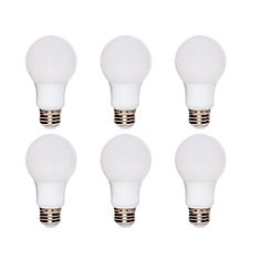 60W Equivalent Soft White (2700K) A19 Dimmable LED Light Bulb (6-Pack)